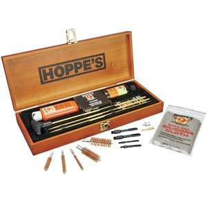 Hoppe's Deluxe Gun Cleaning Kit Wooden Box