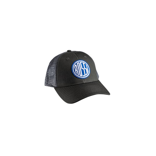 2f55e2e3f4a78 Rossi Trucker Hat - Mesh Grey PMS 425 -Custom Woven Patch